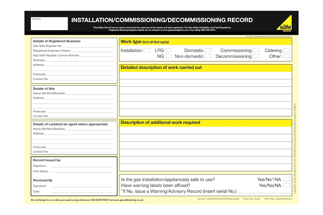 Electrical Installation Test Certificate Template